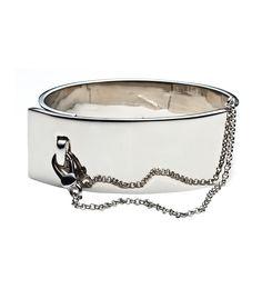 The Military Trend at #ShopBAZAAR: Eddie Borgo Safety Chain Cuff