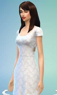 JS Boutique: Lace Cross-back dress - Sims 4 Downloads