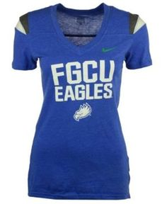 Nike Women's Florida Gulf Coast Eagles Touchdown T-Shirt - Blue XL