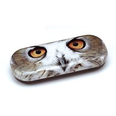 Cool eyeglass case with a picture of an owl.