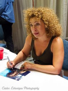 I think she's at school. Beautiful Moments, Most Beautiful Women, Dr Who 11, Doctor Who 2005, Alex Kingston, Hollywood Actor, Celebs, Celebrities, Grey Hair