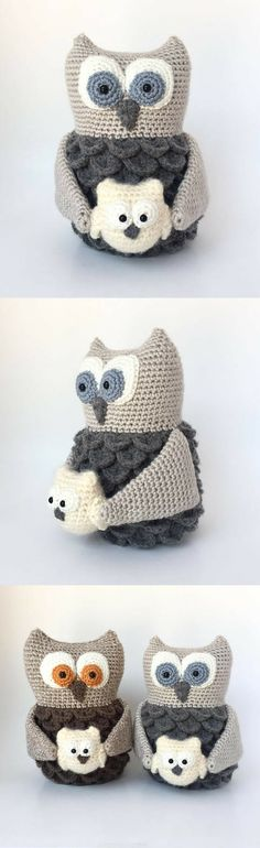 Amigurumi Mama and Baby Owl Crochet Pattern Printable #ad #amigurumi #amigurumidoll #amigurumipattern #amigurumitoy #amigurumiaddict #crochet #crocheting #crochetpattern #pattern #patternsforcrochet #printable #instantdownload #owl
