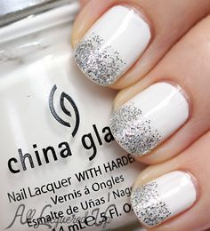 2014 Spring Trend: White Nail Designs. This would be super pretty for bridal