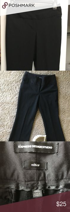 Express Editor pants. Light pinstripe Black pinstripe Editor pants from Express. Size 00s. Brand new. Worn once. Pants Straight Leg