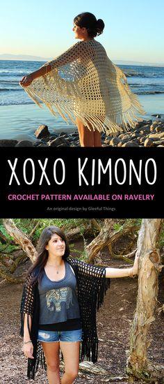 New Crochet Pattern: XOXO Kimono | Gleeful Things