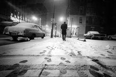 January 15, 1965: Lone pedestrian trudges along Seventh Street. The Enquirer/Bob Free