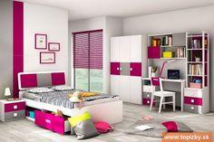 Kolekcja ZURIGO New Edition 120 - 6 elementowa (laminowana) Kids Bedroom Furniture Design, Kids Furniture, Furniture Chairs, Cool Kids Bedrooms, Modern, Study Tables, Home Decor, Bedside Tables, Bunk Beds