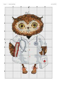 схемы вышивки крестом совы - Поиск в Google