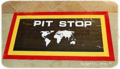 """Pit Stop carpet. This year our theme was  """"My Amazing Race - to become a SOUL Survivor"""". It came about because of the love I have for the Amazing Race show but it was really about the challenges we have in our lives. There are diversions at will attempt to lure us from our path. But it's our covenants that are the road signs to eternal life ~ becoming a SOUL survivor.  Lots of Cute Ideas Here"""
