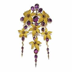 Gold, amethyst and diamond corsage ornament, circa 1870    https://sphotos-a.xx.fbcdn.net/hphotos-prn1/942165_10151569922717719_1745512480_n.jpg