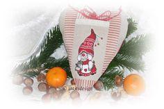 Wohndekoration - *Weihnachtswichtel* Herz - LandhausStil - Versteck - ein Designerstück von antjesdesign bei DaWanda
