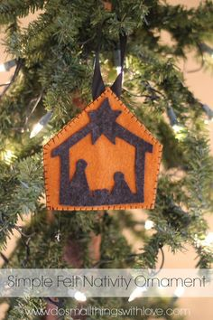 make your own felt nativity ornament, with free pattern!