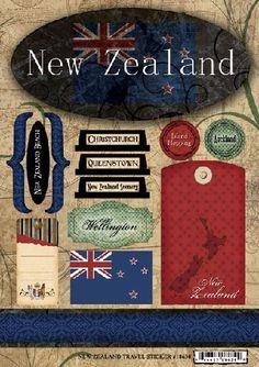 New Zealand - Travel Scrapbooking Stickers