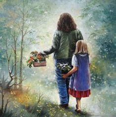 Kızımın bilmesini istediğim 10 şey! - Aile ve Çocuk Eğitimi Large Prints, Fine Art Prints, Sisters Art, Landscape, The Originals, Etsy, Painting, Happy, Pretty Pictures