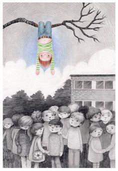 """Detach"", Kathy Hare illustration http://moongazinghareillustration.blogspot.com/"