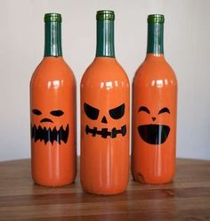 Decorate for Halloween: | 22 DIY Ways To Reuse Empty Booze Bottles