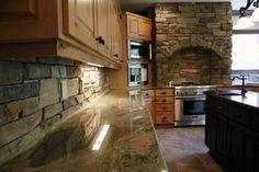 stone kitchen. Old world decor.