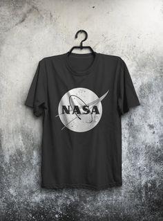 Black & White Nasa T-shirt Nasa Men's T-shirt от UrbanHumanApparel
