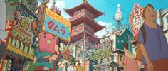 Tekkon Kinkreet Background Art - Imgur ★ || CHARACTER DESIGN REFERENCES | キャラクターデザイン • Find more artworks at https://www.facebook.com/CharacterDesignReferences & http://www.pinterest.com/characterdesigh and learn how to draw: #concept #art #animation #anime #comics || ★
