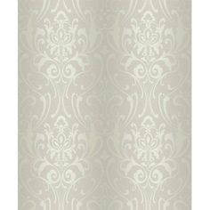 Create a stylish and perfect finish to your indoor decor by using this York Wallcoverings Glam Damask Wallpaper. Damask Wallpaper, Wallpaper Roll, Designer Wallpaper, Classy Wallpaper, Wallpaper Designs, Wallpaper Paste, Wallpaper Decor, Damask Decor, Design Repeats