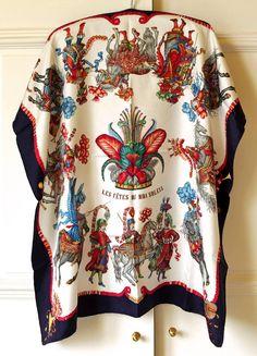 Hermes jacquard silk...vibrant colourway