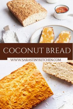 A quick bread recipe that's loaded with coconut is perfect for summer barbeques. Coconut Quick Bread, Quick Bread Recipes, Bread Cake, Coconut Recipes, Easy Weeknight Meals, Baking Pans, Ethnic Recipes, Desserts, Food