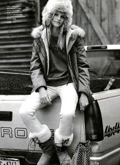 ELLE du 03/01/2014, une jolie chapka qui tient chaud @Elle France