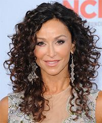 long natural curly haircuts with bangs - Google Search