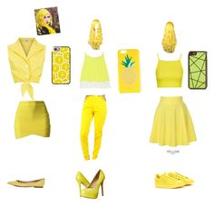 """""""Yellow"""" by cadencelebleu on Polyvore featuring Casetify, Elizabeth and James, Kate Spade, Zero Gravity, Topshop, QNIGIRLS, adidas and Steve Madden"""