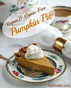 New recipe! GRAIN-FREE, SUGAR-FREE, VEGAN & PALEO PUMPKIN PIE RECIPE! Google+
