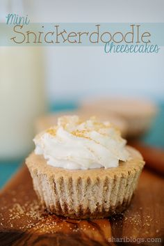 Mini Snickerdoodle Cheesecakes | www.shariblogs.com | #cheesecake #snickerdoodle #dessert