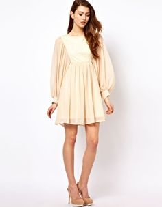 3bd19a3fea Pretty in Peach · Style Lace Mix Smock Dress...I d need to dye it.