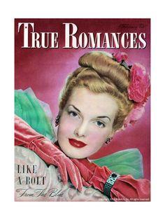 True Romances Magazine - February 1947 - Hazel Mcferrin Model Giclee Print at Art.com