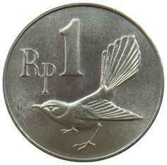 (E18) - Indonesien Indonesia - 1 Rupiah 1970 - Fächerschnäpper - UNC - KM# 20 #numismatics #coins #ebay #money #currency #sales #deals #store #shop #shopping