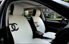 Image Result For Chanel Car Seat Covers In 2020 Sheepskin Car Seat Covers Girly Car Accessories Car Accesories
