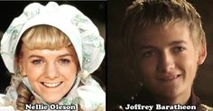 too funny. Joffrey Baratheon = Nellie from Little House on the Prairie.
