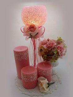 Boda velas de boda vela titular Baby Shower decoración por LaivaArt
