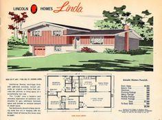 1955 national plan service no e 605 split level angled kitchen