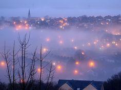 Foggy Night, Halifax, Nova Scotia photo via sheri