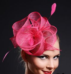 Fascinator Hot Pink  by MargIilane, $49.90...Why should the Brits have all the fun