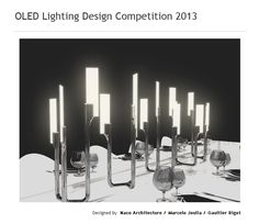 Candle, OLED table lamp that combines old and new elements of design