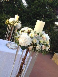 #vintage wedding λαμπαδες γαμου μανουάλια