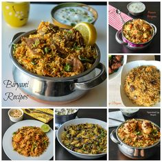 Biryani Collection Recipes http://www.relishthebite.com/biryani-collection/ Here's a quick list of biryani recipes and also the side dish recipes for biryani !