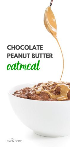 Rethink your breakfast with this creamy Chocolate Peanut Butter Oatmeal drizzled with warm peanut butter and topped with banana slices. Healthy Breakfast Options, Quick And Easy Breakfast, Breakfast Ideas, Peanut Butter Oatmeal, Chocolate Peanut Butter, Whole Food Recipes, Vegan Recipes, Lemon Bowl, Food Hacks