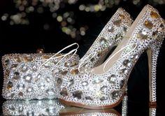 Prom shoes and clutch. #diamonds #glitz #glamorous