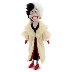"""Disney 101 Dalmatians Cruella De Vil Plush Doll 21 """""""