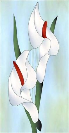 Cala Lily RV Decorative Window Film by janice