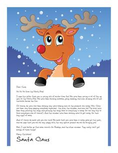 Free Letter from Santa! Many many combinations for printable, personalized Letters from Santa - both free and paid versions!