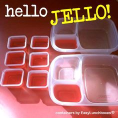 Make JELLO right in your lunch and snack containers! #lunchbox #easylunchboxes