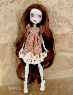 Customized Monster High doll - Frankie Stein by UNNIEDOLLS